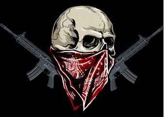 skull mask patriotic t shirt template vector