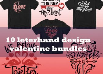 new 10 latterhand design valentin day bundles