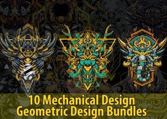 10 Mechanical DESIGN GEOMETRIC BUNDLES, best Ilustration