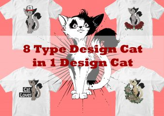 8 type design cat in 1design cat bundles