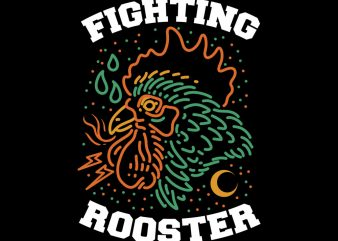 rooster tshirt design