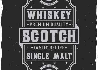 Scotch label t shirt template vector