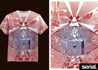 ◍ ᴀʟᴄʜᴇᴍʏ ᴏɴᴇ ◍ Alchemy Zodiac All-Over T-shirt Design