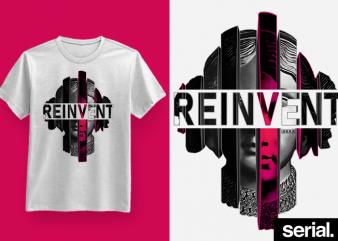 ◍ ʀᴇɪɴᴠᴇɴᴛ ◍ Vaporwave Streetwear Graphic T-Shirt Design