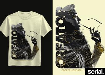 ◍ ᴄʀᴇᴀᴛᴏʀ ᴛᴡᴏ ◍ Minimalist Concept Graphic T-Shirt Design