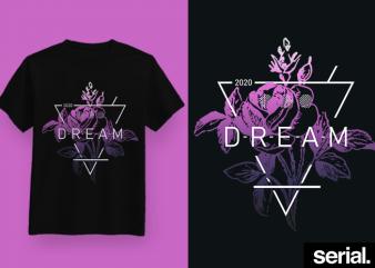◍ ᴅʀᴇᴀᴍ ◍ Geometric Trendy Graphic T-Shirt Design