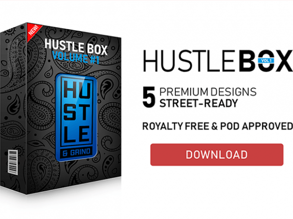 Hustle Box #1 T-Shirt Design Bundle