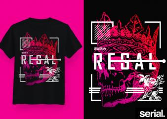 ◍ ʀᴇɢᴀʟ ◍ Streetwear Geometric Graphic T-Shirt Design