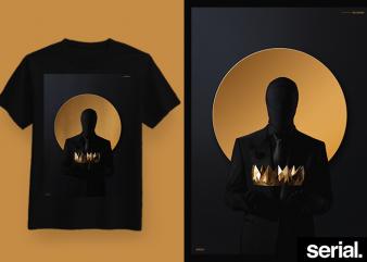 ◍ ᴛʜᴇ ᴄʀᴏᴡɴ ◍ Concept Streetwear Graphic T-Shirt Design