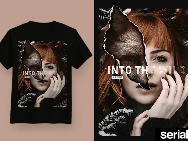 ◍ ɪɴᴛᴏ ᴛʜᴇ ᴡɪʟᴅ ◍ Streetwear Concept Graphic T-Shirt Design