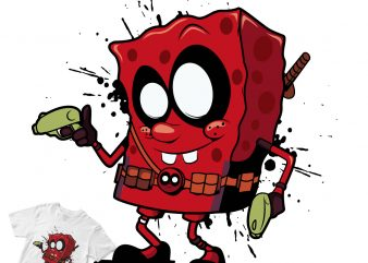 Spongebob Deadpool ! graphic t-shirt design