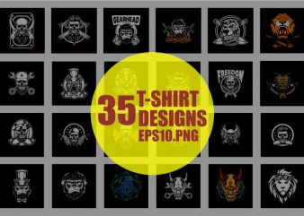 35 t-shirt bundle and poster designs