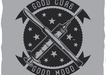 Syringe T-shirt label