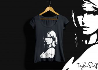 Taylor Swift art shirt design