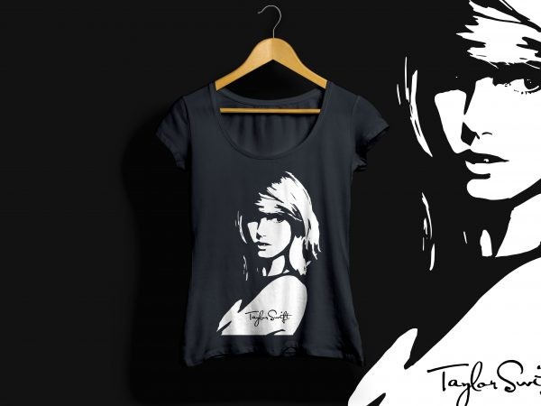 Taylor Swift Vector Art T Shirt Design For Sale Buy T Shirt Designs