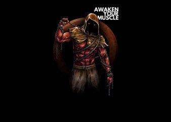 Awaken Your Muscle t shirt vector