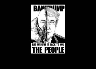Bane x Trump vector t-shirt design template