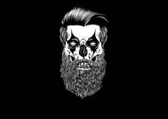 Beard Clown t shirt template