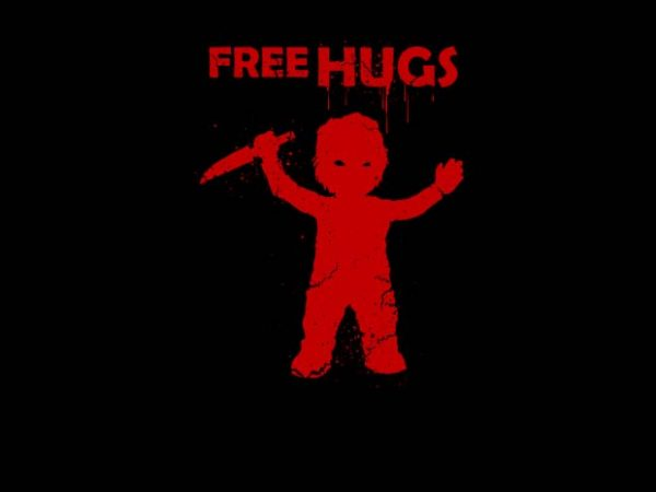 chucky hugs t shirt design to buy