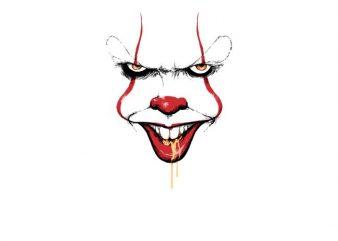 Clown Spittle graphic t-shirt design