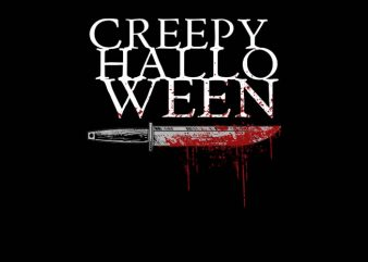Creepy Halloween t shirt design png