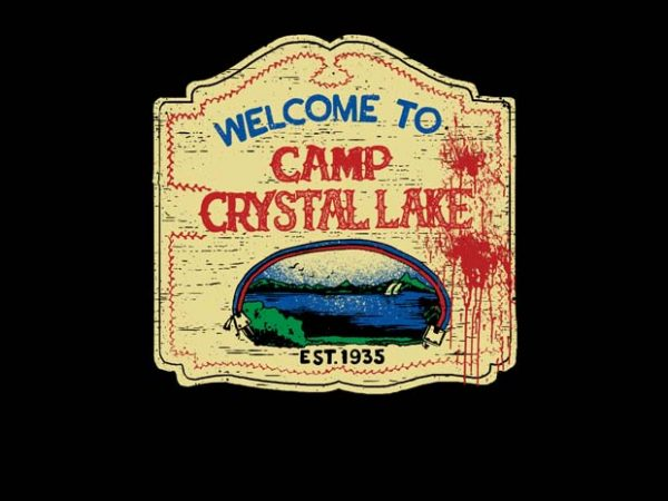Crystal Lake Sign t shirt design for purchase