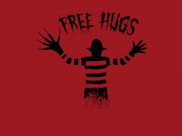 Free Hugs Freddy Krueger buy t shirt design