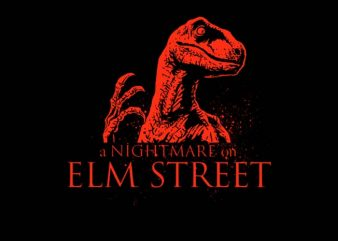 Raptor Nightmare t-shirt design for commercial use