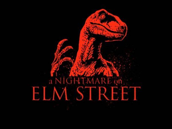 Raptor Nightmare t-shirt design for commercial use