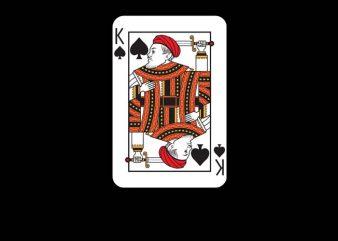 King Card t shirt vector art