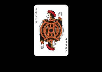 Joker Card vector clipart