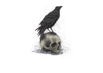 Crow Skull t shirt design to buy