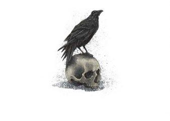 Crow Skull t shirt vector file