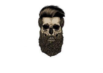 Great Beard t shirt design template
