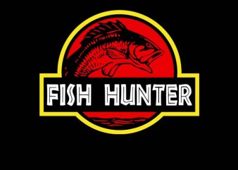 Fish Hunters commercial use t-shirt design