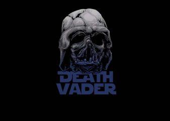 Death Vader t shirt vector illustration