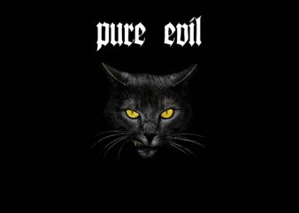 Pure Evil t shirt illustration