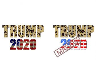 Trump 2020, Leopard, American Flag Design Election 2020 Distressed Vintage Silhouette Cameo SVG Cutting File Cricut Download