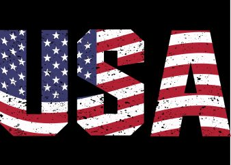 american independent tshirt design vector