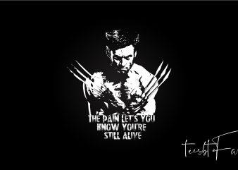 X Men Wolverine T shirt Design t-shirt design png
