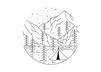 Camping t-shirt design png
