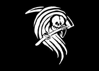 Grim Reaper t-shirt design png