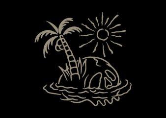 Skull Island t-shirt design png