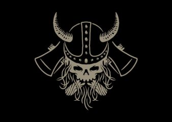 Viking print ready t shirt design