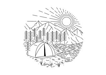 Camping graphic t-shirt design