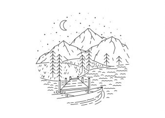 Lake t shirt design for sale