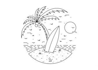 Surf Board shirt design png