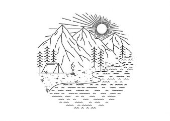 Beautiful Place for Camping t shirt design for purchase