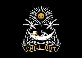 Chill Out t shirt design for download