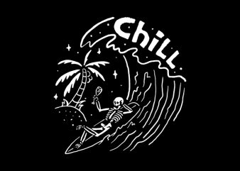 Surf and Chill buy t shirt design artwork